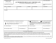 "FAA Form 8130-3 ""Authorized Release Certificate"""