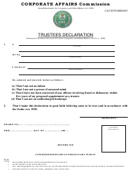 """Form CAC/IT002 """"Trustees Declaration"""" - Nigeria"""