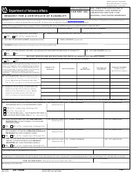 VA Form 26-1880 Request for a Certificate of Eligibility