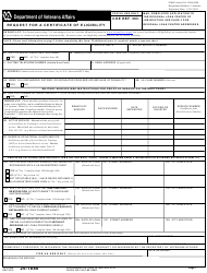 "VA Form 26-1880 ""Request for a Certificate of Eligibility"""