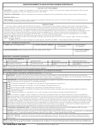 DD Form 2656-6 Survivor Benefit Plan Election Change Certificate