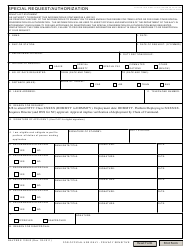 "NAVPERS Form 1336/3 ""Special Request/Authorization Form"""