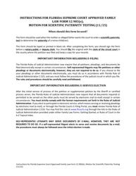 "Form 12.983(E) ""Motion for Scientific Paternity Testing"" - Florida"