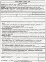 """DD Form 2384-1 """"Notice of Basic Eligibility (Nobe)"""""""