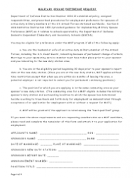 Military Spouse Preference Request Form