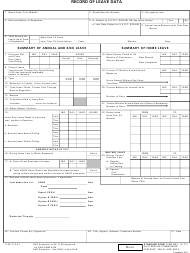 "GSA Form SF-1150 ""Record of Leave Data"""