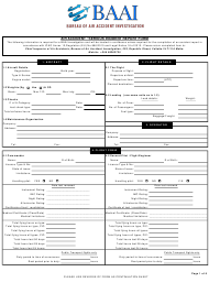 Air Accident / Serious Incident Report Form - Bureau of Air Accident Investigation - Valletta