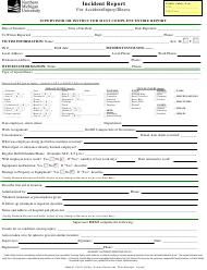 Incident Report Form for Accident/Injury/Illness - Northern Michigan University