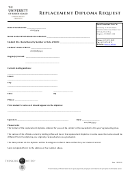 Replacement Diploma Request Form - University of Rhode Island