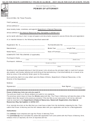 """Form IL422-0329 """"Power of Attorney"""" - Illinois"""