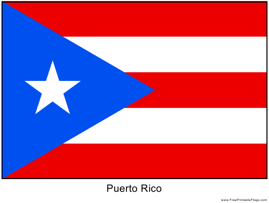 """Puerto Rico Flag Template"" Download Pdf"