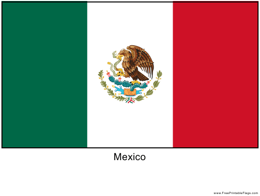 """Mexico Flag Template"" - Mexico Download Pdf"
