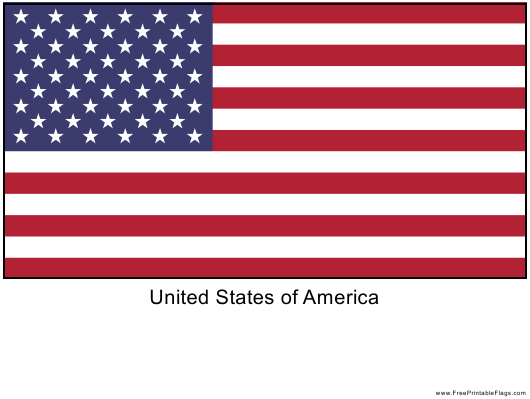 """""""United States of America Flag Template"""" Download Pdf"""