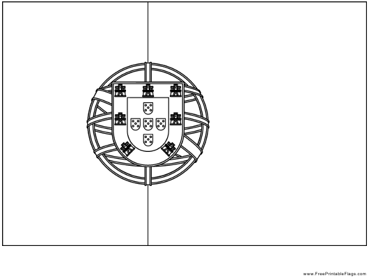 """Portugal Flag Template"" - Portugal Download Pdf"