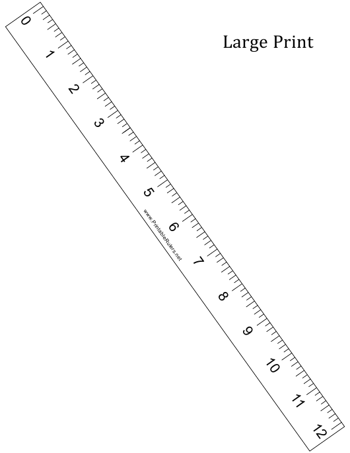 """Large Print 12-inch Ruler Template"" Download Pdf"