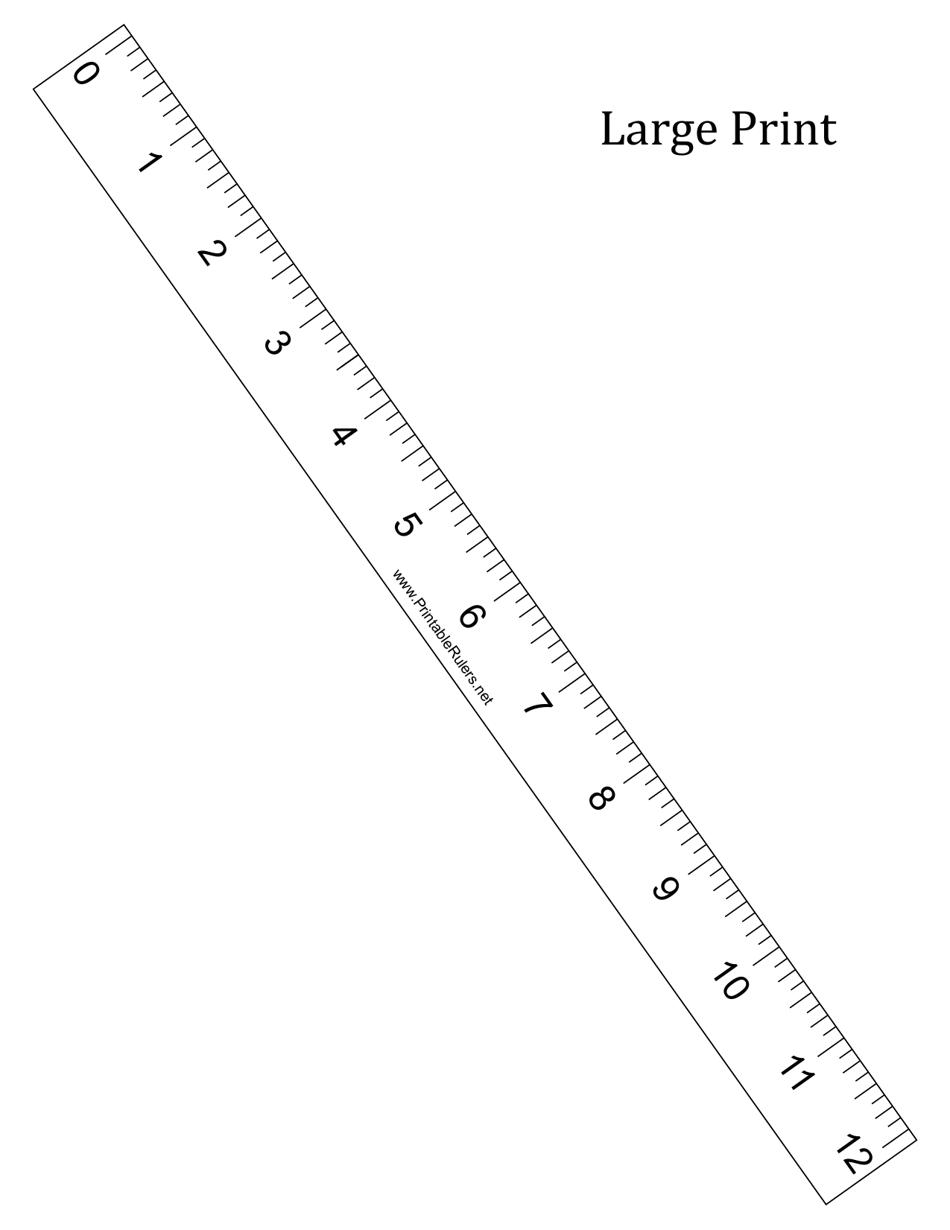 Large Print 40 inch Ruler Template Download Printable PDF ...