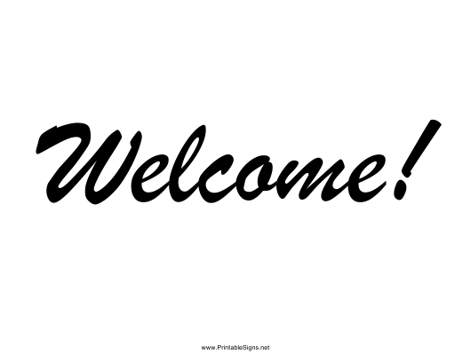 """""""Welcome Sign Template"""" Download Pdf"""