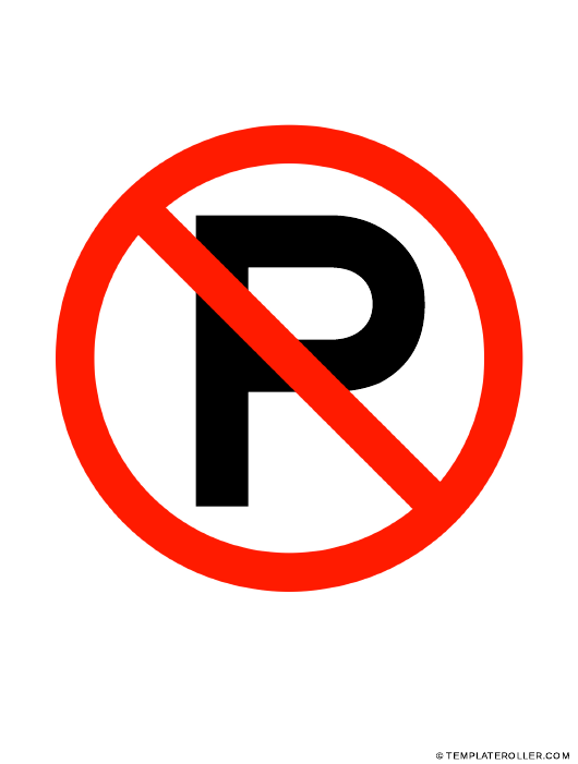 """""""No Parking Sign Template"""" Download Pdf"""