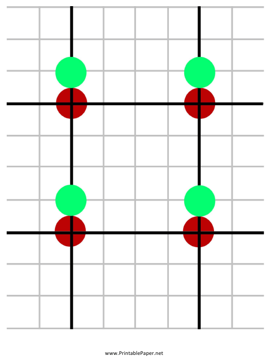 """""""Red-Green Target Grid Template"""" Download Pdf"""
