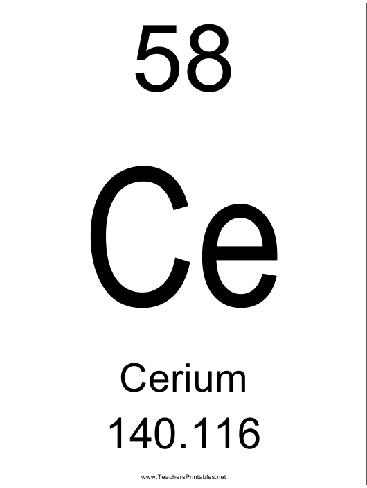 """Cerium Chemical Poster Template"" Download Pdf"