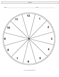 """Clock Face Time Worksheet"""