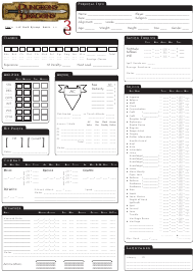 """Dungeons & Dragons 3.5e Character Sheet"""