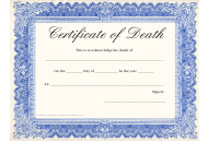 """Certificate of Death Template"""