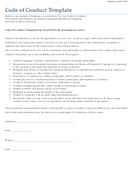 """""""Code of Conduct Template - Sample"""""""