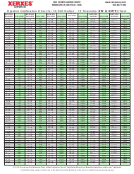 Dipstick Calibration Chart - Xerxes Corporation