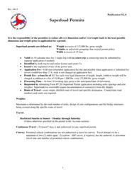 "Form PF-20 ""Superload Permit Application"" - North Carolina"