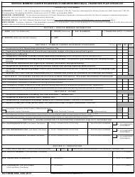 DD Form 2958 Service Member Career Readiness Standards/Individual Transition Plan Checklist