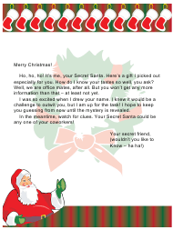 "Sample ""Secret Santa's Letter for Office Workers"""