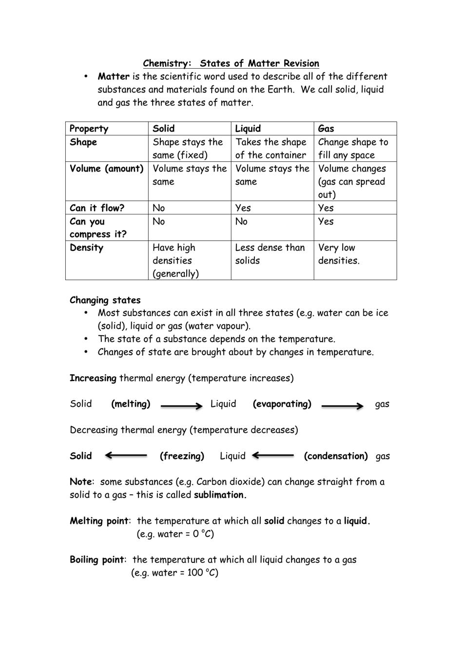 Chemistry: States of Matter Cheat Sheet Download Printable PDF Inside States Of Matter Worksheet Pdf