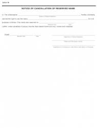 "Form LLC-1.15 ""Application to Reserve a Name, Transfer of Reserved Name, Cancellation of Reserved Name"" - Illinois, Page 2"