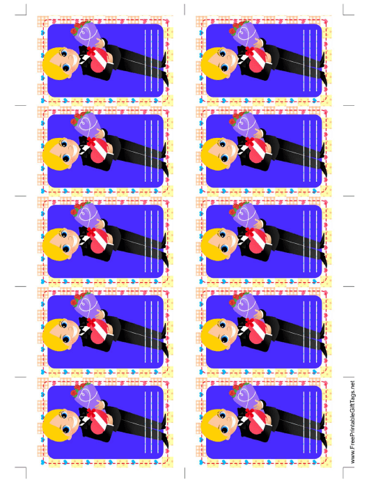 """Boy Giving Gift Tag Template"" Download Pdf"