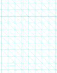 """""""Cyan Diagonals Right With 1 Inch Grid Paper Template"""""""