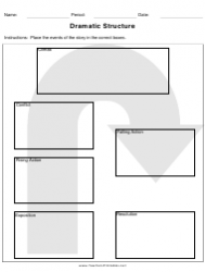 Dramatic Structure Sheet
