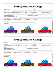 Transportation Change Form