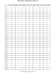 Employee Attendance Record Template