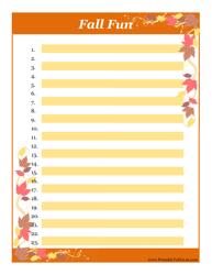 Fall Fun to-Do List Template