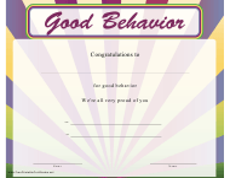 """Good Behaviour Certificate Template"""