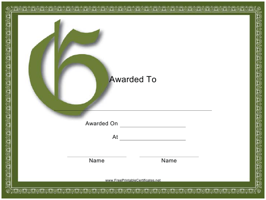 """Monogram G Certificate Template"" Download Pdf"