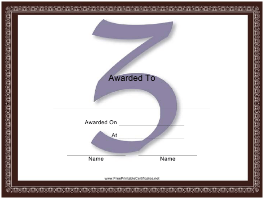 """Centered Z Monogram Certificate Template"" Download Pdf"