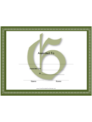Centered G Monogram Certificate Template
