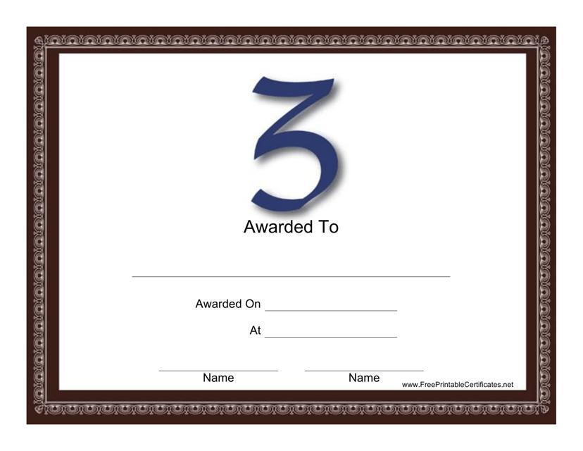 """Blue Z Monogram Certificate Template"" Download Pdf"