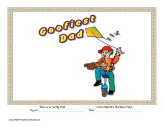 """Goofiest Dad Certificate Template"""