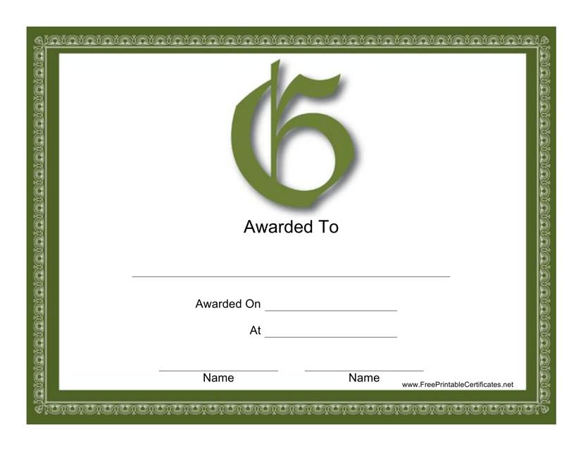 """""""G Monogram Certificate Template"""" Download Pdf"""