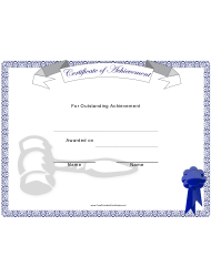 Outstanding Achievement Certificate Template