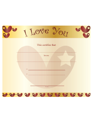 Love Certificate Templates Pdf Download Fill And Print For Free