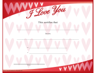 """Love Certificate Template"""